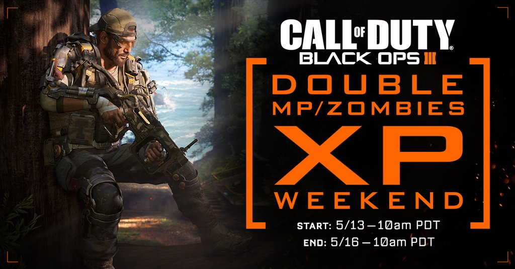 Double XP weekend Black Ops 3