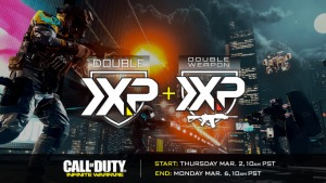 CoD Double XP weekend